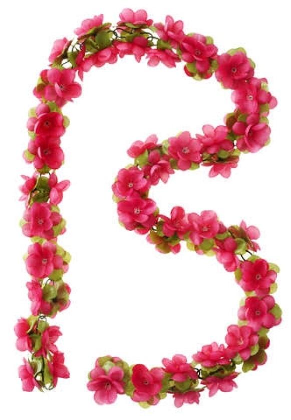 Basil Flower Garland Rosengirlande pink