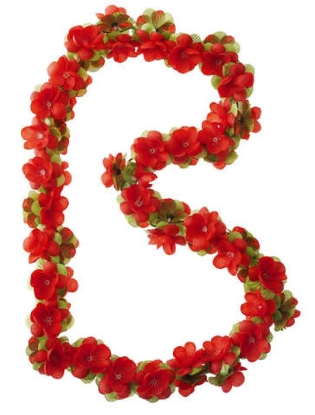 Basil Flower Garland Rosengirlande rot