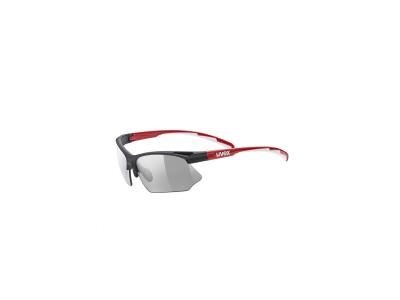 Uvex Sportstyle 802 vario, black red/ smoke