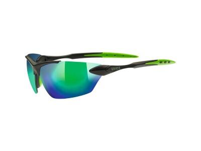 Uvex Sportstyle 203, black matt green, mirror green