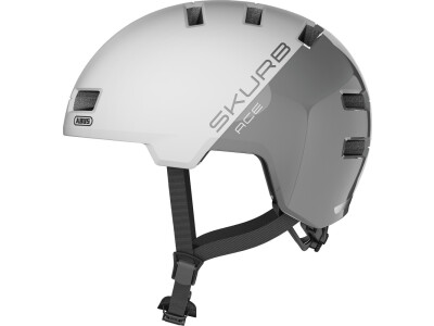 Abus Helm Skurb ACE silver white