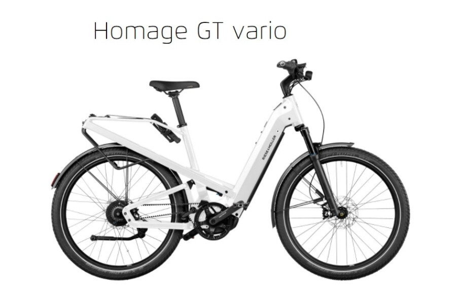 Riese und Müller Homage GT Vario,D54, 625Wh, ABS, Nyon, RX, Pearl White