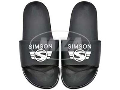 Simson Badeschuhe, schwarz, Motiv: SIMSON