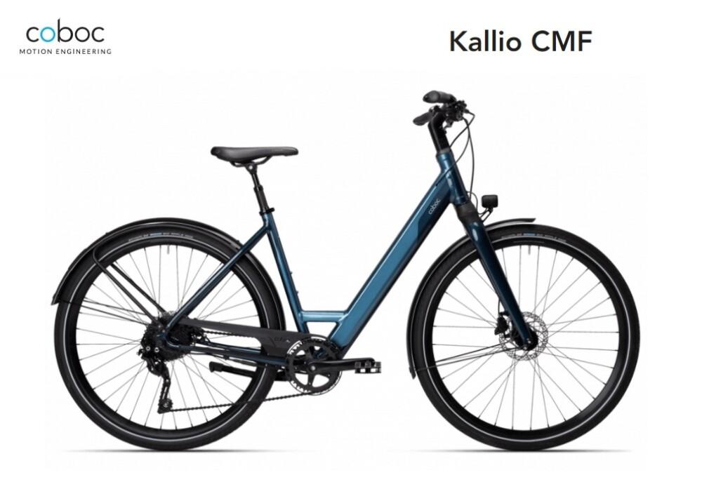Coboc Kallio CMF, 380Wh, Damen 50, Grada Blue – Free Blue, metallic