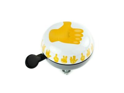 Bell Ding-Dong Glocke Thumbs up  weiß / gelb