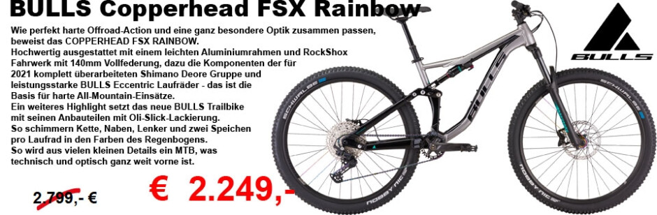 BullsCopperhead FSX Rainbow