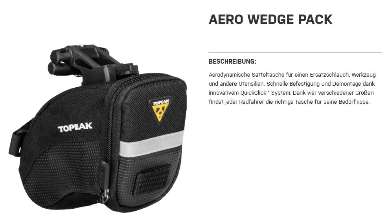 Topeak Aero Wedge Pack Small