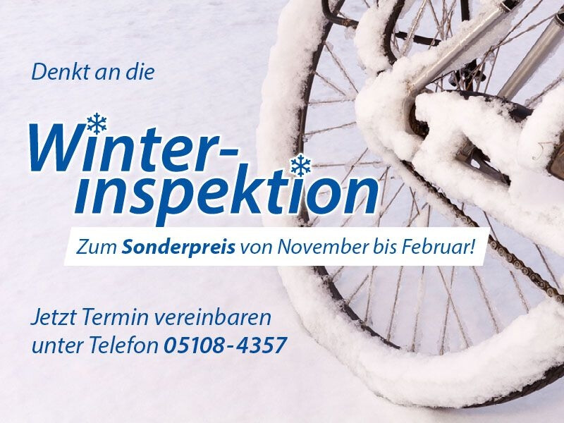 Winterinspektion im Radland
