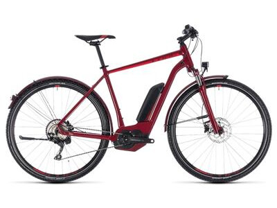 Cube Cross Hybrid Pro Allroad Herren 500 darkred´n´red 2018