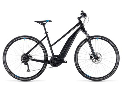 Cube Cross Hybrid ONE 500 Trapez black´n´blue 2018