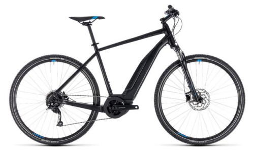Cube Cross Hybrid ONE 500 Herren black´n´blue 2018