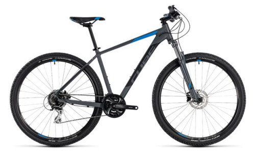 Cube Aim Race grey-n-blue 2018 29er