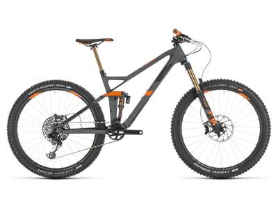 Cube Stereo 140 HPC TM 27.5 grey´n´orange 2020 18""