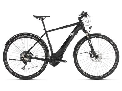 Cube Cross Hybrid Race 500 Allroad black´n´white 2019