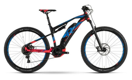 Raymon E-Nine Trailray 7.0, Fully E-bike mit Yamaha Antrieb, Akku leistet 500Wh.