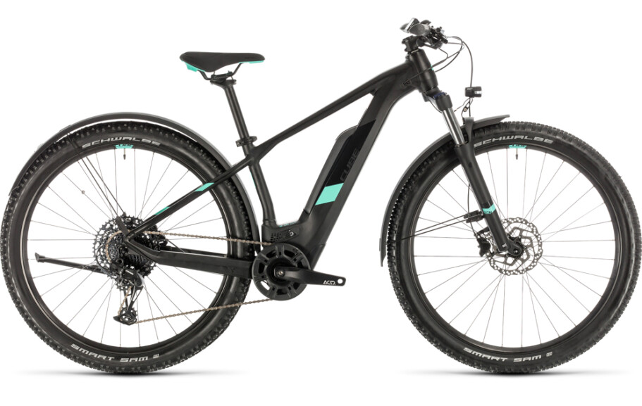 Cube Access Hybrid Pro Allroad 500Wh, black´n´mint