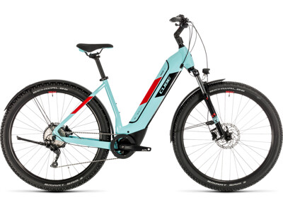 Cube Nuride Hybrid Pro 325 Allroad glacierblue´n´red Easy Entry