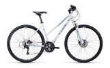 Crossbike Cube Cross white silver iceblue / Trapez
