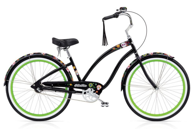 Cruiser-Bike Electra Bicycle Sugar Skulls 3i Ladies' EU 2016