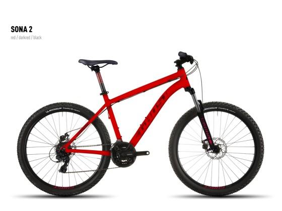 Mountainbike Ghost Sona 2 red-darkred-black 2016