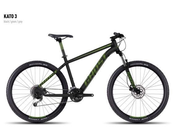 Mountainbike Ghost Kato 3 black-green-gray 2016