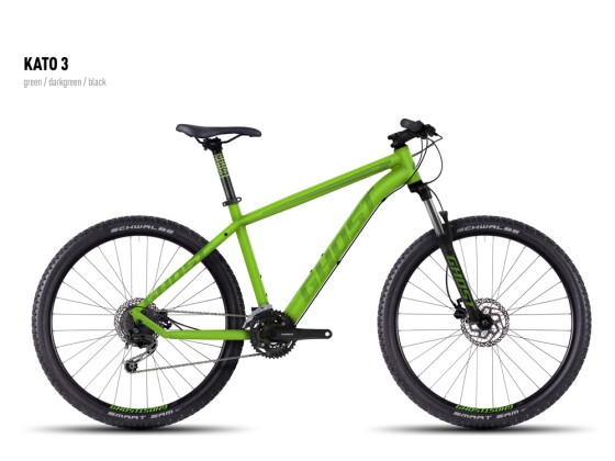 Mountainbike Ghost Kato 3 green-darkgreen-black 2016