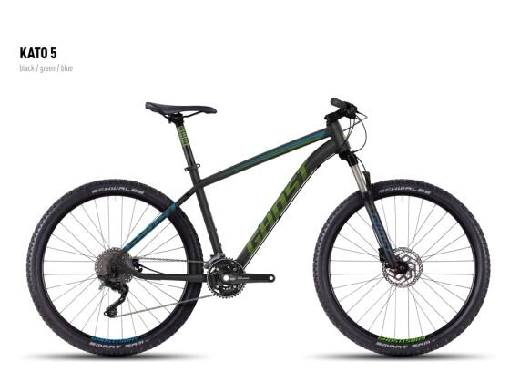 Mountainbike Ghost Kato 5 black-green-blue 2016