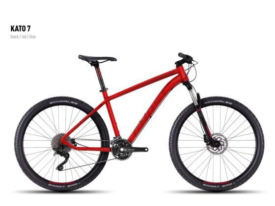Mountainbike Ghost Kato 7 red-darkred-black 2016