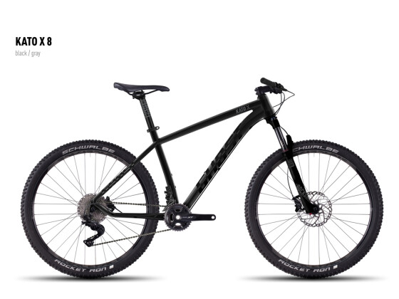 Mountainbike Ghost Kato X 8 black/gray 2016