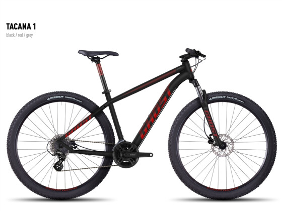 Mountainbike Ghost Tacana 1 black-red-gray 2016