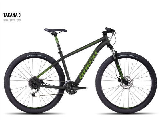 Mountainbike Ghost Tacana 3 black-green-gray 2016