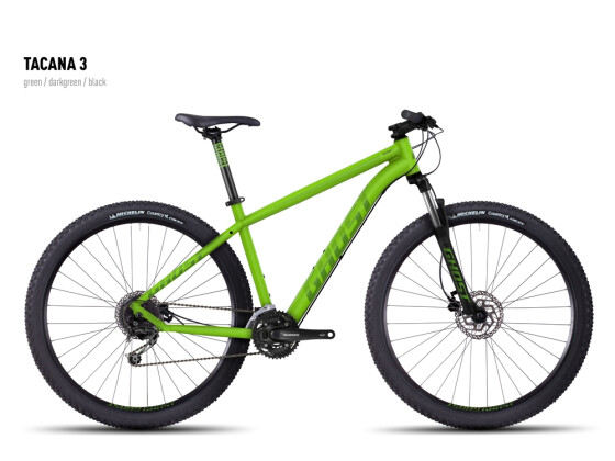 Mountainbike Ghost Tacana 3 green-darkgreen-black 2016