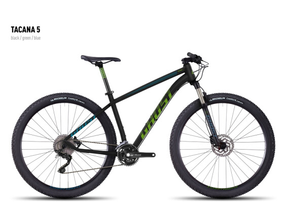 Mountainbike Ghost Tacana 5 black-green-blue 2016