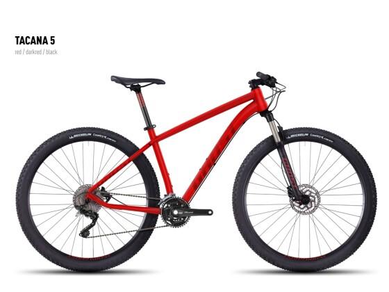 Mountainbike Ghost Tacana 5 red-darkred-black 2016