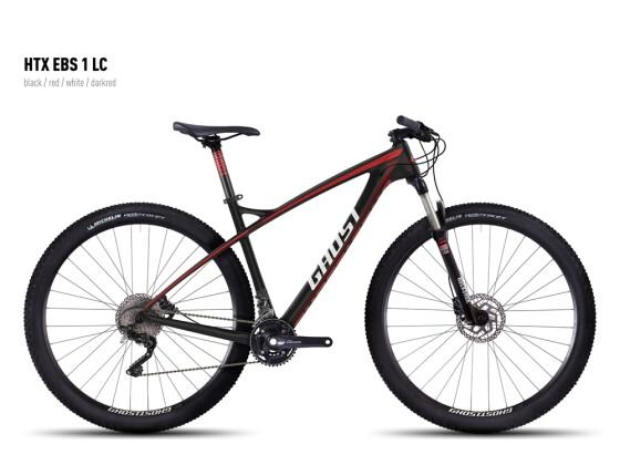 Mountainbike Ghost HTX EBS 1 LC black/red/white/darkred 2016