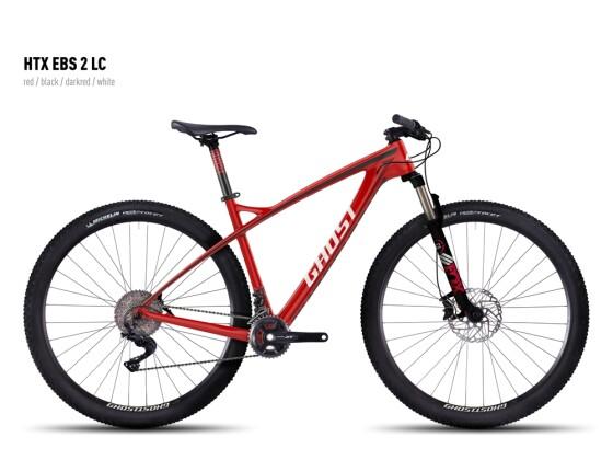 Mountainbike Ghost HTX EBS 2 LC red/black/darkred/white 2016