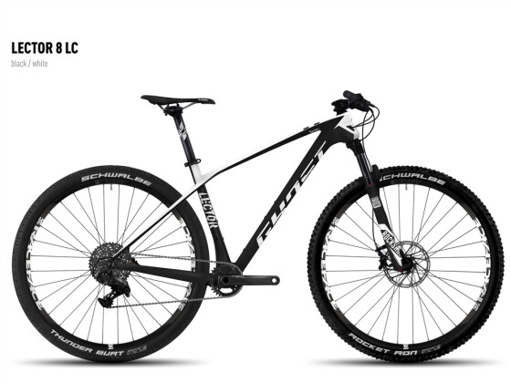 Mountainbike Ghost Lector 8 LC black/white 2016