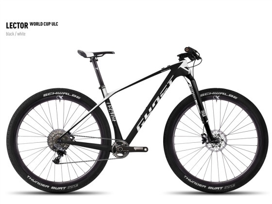 Mountainbike Ghost Lector World Cup ULC black/white 2016