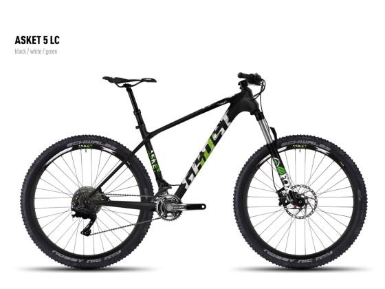 Mountainbike Ghost Asket 5 LC black/white/green 2016