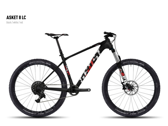 Mountainbike Ghost Asket 8 LC black/white/red 2016