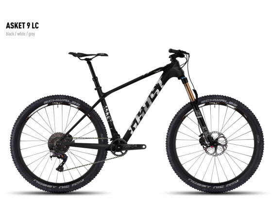 Mountainbike Ghost Asket 9 LC black/white/gray 2016