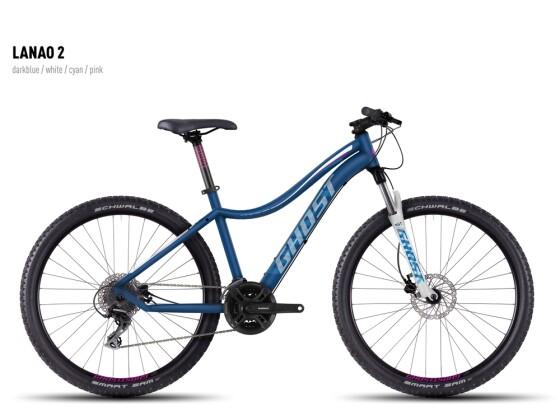 Mountainbike Ghost Lanao 2 darkblue-white-cyan-pink 2016