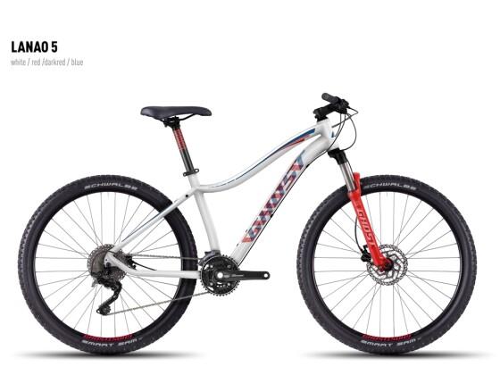 Mountainbike Ghost Lanao 5 white-red-darkred-blue 2016