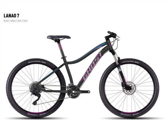 Mountainbike Ghost Lanao 7 black-white-pink-blue 2016