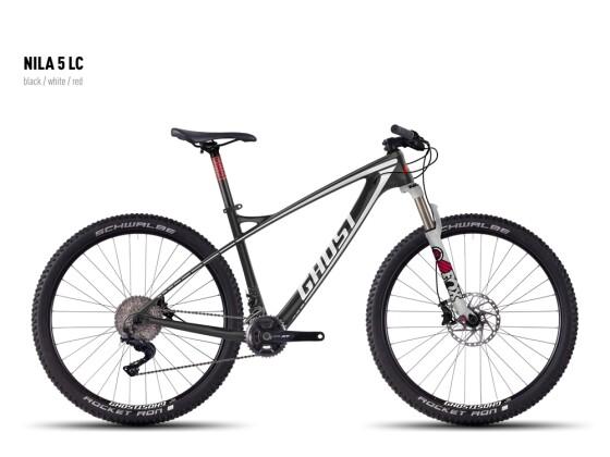 Mountainbike Ghost Nila 5 LC black/white/red 2016