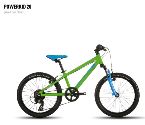 Kinder / Jugend Ghost Powerkid 20 green/cyan/black 2016