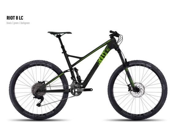 Mountainbike Ghost Riot 8 LC black/green/darkgreen 2016