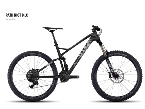 Mountainbike Ghost Path Riot 8 LC black/silver 2016
