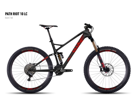 Mountainbike Ghost Path Riot 10 LC black/red 2016