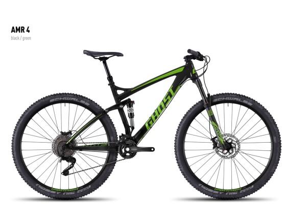 Mountainbike Ghost AMR 4 black/green 2016